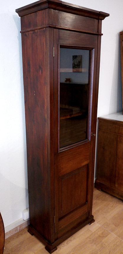 Classic showcase bookcase in Italian mahogany