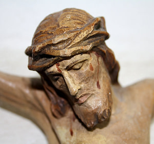 Sculpture Christ crucified
